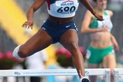 Takecia Jameson of USA in the Women's 400m Hurdles heats (Getty Images)