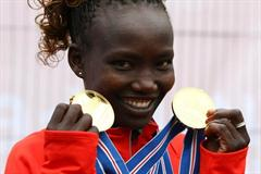 Kenya's Mary Keitany wins both the individual and team titles at the IAAF/EDF Energy World Half Marathon Championships in Birmingham (Getty Images)
