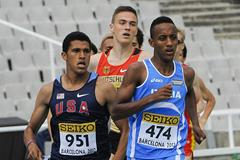Izaic Yorks of United States competes during the Men's 1500 metre qualification heat on the day one of the 14th IAAF World Junior Championships in Barcelona (Getty Images)