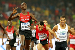 Asbel Kiprop wins the 1500m at the IAAF World Championships, Beijing 2015 (Getty Images)