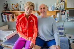 Blanka Vlasic and physiotherapist Anthony Geoghegan in Carlow, October 2013 ( Donal Glackin)
