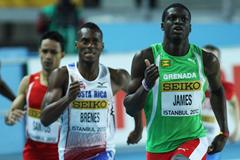 Kirani James of Grenada competes in the Men's 400 Metres first round during day one - WIC Istanbul (Getty Images)