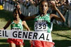 Tirunesh Dibaba wins the the women's short race to complete a golden double (Getty Images)
