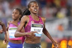 Eunice Sum wins the 800m at the IAAF Diamond League meeting in Rome (Gladys Chai von der Laage)
