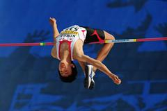 Seunghyun YUN of Korea in action during the Boys High Jump final - Day Four - WYC Lille 2011 (Getty Images)