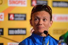 Valeria Straneo at the press conference ahead of the IAAF/AL-Bank World Half Marathon Championships in Copenhagen (Getty Images)
