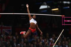Yarisley Silva of Cuba attempts a vault in the women's Pole Vault final at the London 2012 Olympics (Getty Images)