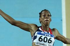 Shara Proctor of Great Britain competes in the Women's Long Jump qualification during day two - WIC Istanbul (Getty Images)