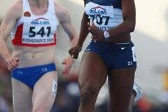 Jeneba Tarmoh of USA in the Semi-Final of the Women's 100m (Getty Images)