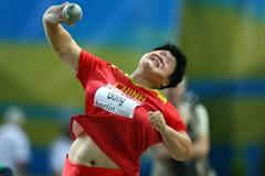 Lijiao Gong putting for bronze in Berlin (Getty Images)