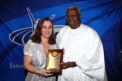 Marcia Lins, the State Secretary of Sport for the Rio Janeiro State with IAAF President Lamine Diack (Getty Images)