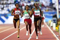 Mercy Cherono of Kenya wins the women's 3000m in Moncton (Getty Images)