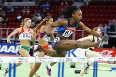 Gail Devers (USA) in action in the women's 60m Hurdles (Getty Images)