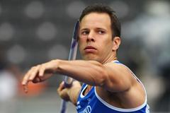 Reigning World Champion Tero Pitkämäki of Finland competes in the men's Javelin Throw qualification at the 12th IAAF World Championships in Athletics (Getty Images)