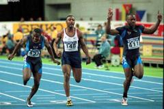 Lisbon 2001 Men's 60m final (© Allsport)