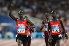 Ezekiel Kemboi leads a Kenyan sweep in steeplechase (Getty Images)