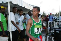 The shock of the championships - Bekele DNF - did not finish - in Mombasa (Getty Images)
