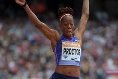 Shara Proctor at the 2015 IAAF Diamond League meeting in London (Kirby Lee)
