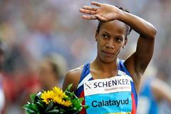Zulia Calatayud after her 800m victory in Berlin (Getty Images)