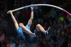 Renaud Lavillenie at the 2015 IAAF Diamond League meeting in Eugene (Kirby Lee)