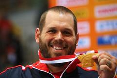 Ryan Whiting with his 2014 world indoor gold medal (Getty Images)