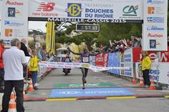 Edwin Kipyego wins the 2015 Marseille-Cassis 20km (Michel Fisquet)