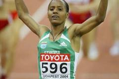 Kutre Dulecha of Ethiopia wins the 1500m in Budapest (Getty Images)