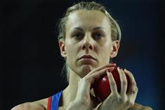 Tayana Chernova of Russia competes in the Women's Shot Put in the Pentathlon during day one - WIC Istanbul (Getty Images)