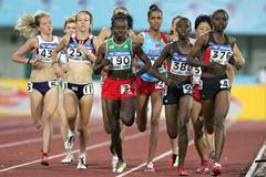 Kenya's Irene Jelagat on her way to victory in the women's 1500m final (Getty Images)
