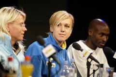 Kajsa  Bergqvist at the official IAAF Press Conference (Getty Images)