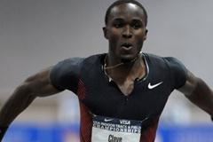 Will Claye en route to his 17.63m leap in Albuquerque (Kirby Lee)