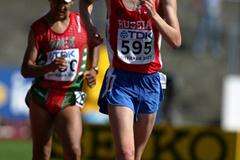Denis Strelkov of Russia during the 10,000m Race Walk final (Getty Images)
