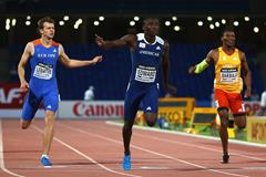 Alonso Edward wins the 200m at the IAAF Continental Cup, Marrakech 2014 (Getty Images)