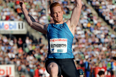 Greg Rutherford wins the long jump at the IAAF Diamond League meeting in Oslo (Mark Shearman)