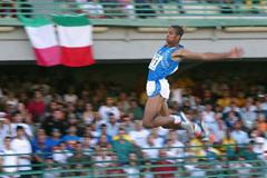 Andrew Howe of Italia wins Long Jump gold (Getty Images)