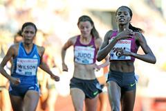 Eunice Sum winning the 800m at the 2014 IAAF Diamond League in Oslo (Mark Shearman)