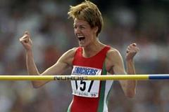 Stefka Kostadinova wins the 1995 World title (Getty Images)