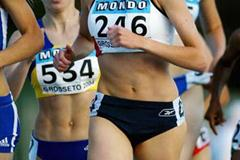 Laura Finucane of Great Britain competing in the heats of 800m (Getty Images)