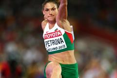 Gabriela Petrova in the triple jump qualification at the IAAF World Championships, Beijing 2015 (Getty Images)