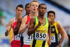 Brandon Parris of Saint Vincent & the Grenadines in action during the boys 800m qualification Day One - WYC Lille 2011 (Getty Images)
