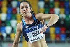Amanda Smock of the United States competes in the Women's Triple Jump qualification during day one - WIC Istanbul  (Getty Images)