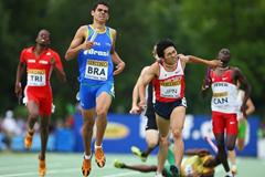 Leandro De Araujo of Brazil edges out Shogo Momiki of Japan to claim silver in the Medley Relay final (Getty Images)