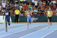 LaShawn Merritt (left) winning the 400m at the 2014 Ponce Grand Prix (Rafael Contreras / organisers)