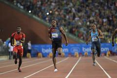 Usain Bolt winning the 100m at the 2013 IAAF Diamond League final in Brussels (Jean-Pierre Durand / IAAF)