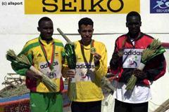 The medallists of the men's long race in Vilamoura (© Allsport)