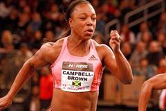 Veronica Campbell-Brown scorching to a comfortable 50m victory in New York (Victah Sailer)