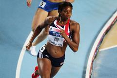 Shana Cox of Great Britain competes in the Women's 400 Metres first round during day one - WIC Istanbul  (Getty Images)