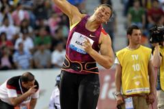 Valerie Adams at the 2014 IAAF Diamond League meeting in Doha (Deca Text & Bild)