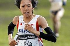 Asami Kato (JAPAN) finishes in Edinburgh 2008 (AFP / Getty Images)