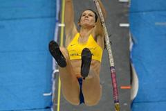 Fabiana Murer at the 2013 UCS Spirit National Pole Vault Summit in Reno (Kirby Lee)